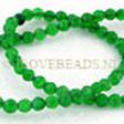 JADE GEMSTONES BEADS - GREEN JADE FACETED BEADS 4MM